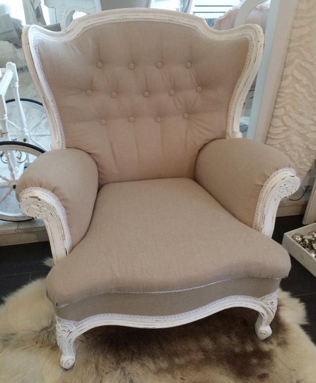 shabby chic sessel daniela 39 s shabby chic boutique. Black Bedroom Furniture Sets. Home Design Ideas